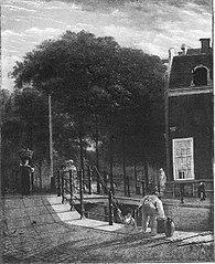 Leliegracht, hoek herengracht, naar het zuiden gezien