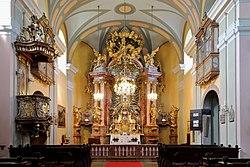 Mariahilfberg (Gutenstein) - Kirche, Hochaltar.JPG
