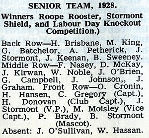 1928 New Zealand rugby league season - Image: Marist 1928super