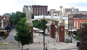 Market Square, Knoxville - Market Square, viewed from the north end