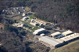 Sewage treatment - Sewage treatment plant in Massachusetts, United States
