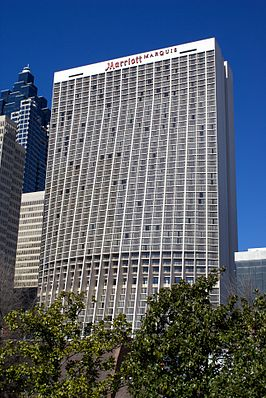 Het Marriott Marquis Hotel in 2008