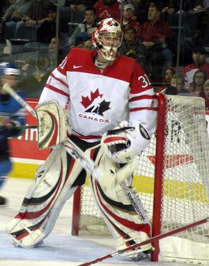 Martin Jones (ice hockey) - Jones playing for the Canadian junior team in 2009.