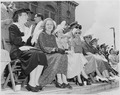 Mary Jane Truman, Margaret Truman, Bess Truman, and others watch a parade in Bolivar, Missouri. President Harry S.... - NARA - 199907.tif