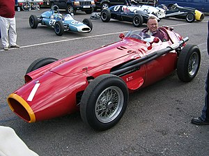 Race of Two Worlds - An example of a Maserati 250F as was used in Formula One.  The 250F was unable to handle the Monza banking when equipped with larger Firestone tyres.
