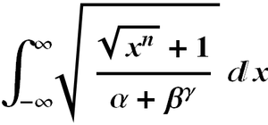 Formula editor - A typeset mathematical expression