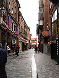 Mathew Street, Liverpool - view north from Cavern Club, 2008-08-12.jpg