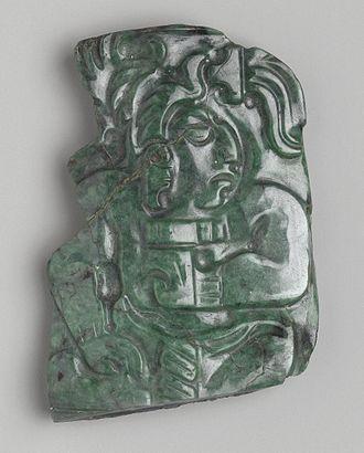 Jadeite - Maya Jadeite Plaque, 600-900 CE, Brooklyn Museum