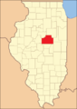 McLean County in 1841, reduced to its present borders
