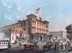 McVicker's Theater - MicVicker's Theater in 1866
