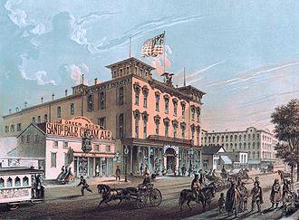 McVicker's Theater - MicVicker's Theater in 1866