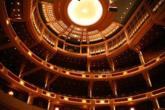 Morton H. Meyerson Symphony Center - Image: Mcdermott hall balconies