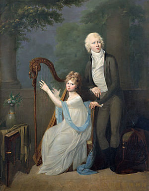 Duchess Louise Charlotte of Mecklenburg-Schwerin - Louise Charlotte, Hereditary Princess of Saxe-Gotha-Altenburg and her husband, by Alexandre Molinari, Galerie Neue Meister, Dresden.