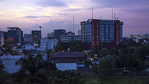 Medan skyline at dawn