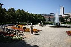 Medic Garden with flowers in Bratislava, Bratislava I District.jpg