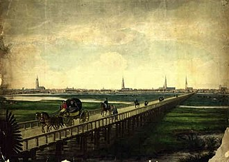 Louis Didier Jousselin - The bridge at Hamburg