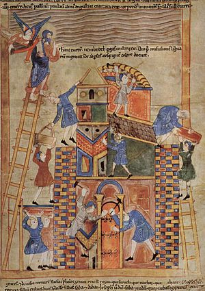 Old English Hexateuch - The Tower of Babel.