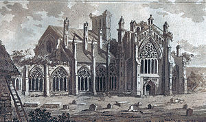 Melrose Abbey - Image: Melrose abbey 1800