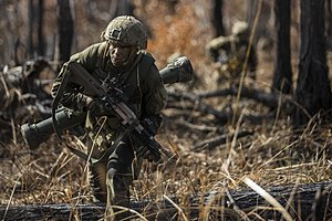 8th Brigade (Australia) - An 8th Brigade soldier during Exercise Southern Jackaroo in 2016