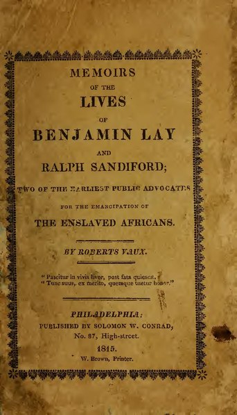 File:Memoirs of the Lives of Benjamin Lay and Ralph Sandiford.pdf