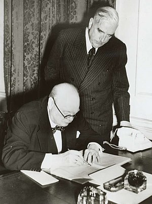 United Australia Party - Prime Minister Robert Menzies and British Prime Minister Winston Churchill in 1941.