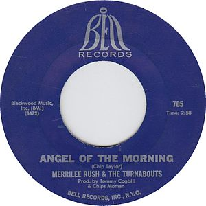 "Bell Records - Side label of ""Angel of the Morning,"" with the logo used from 1964 to 1969"