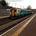 Merthyr Tydfil train at Merthyr Vale station - geograph.org.uk - 4204270.jpg