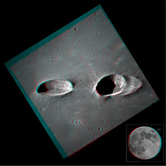 Messier (crater) - Image: Messier Craters in Stereo