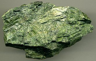 Pyroxenite - Metamorphosed clinopyroxenite, made of green diopside, from the Shetland ophiolite, Unst, Scotland