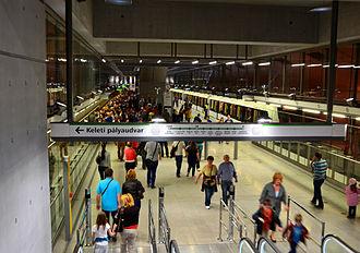 Kelenföld vasútállomás (Budapest Metro) - Image: Metro 4, M4, Line 4 (Budapest Metro), Kelenföld vasútállomás station