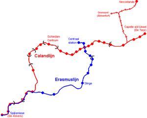 Capelle aan den IJssel - Image: Metrokaart Rotterdam