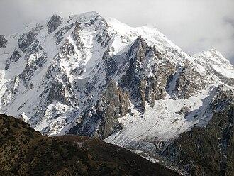 Miar Peak - The ice-clad slopes of Miar's northwest face