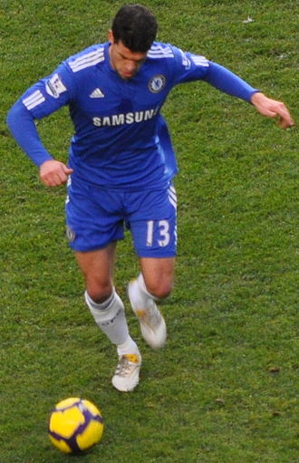 Michael Ballack - Ballack in action against Fulham in December 2009.