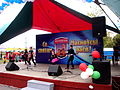 Michail Paulau Park in Minsk city - children singing - 12 September 2015 AD.jpg