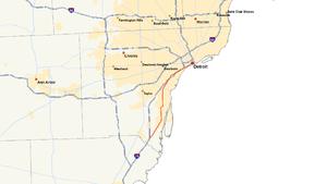 M-85 (Michigan highway) - Image: Michigan 85 map