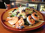 Michigan salad with grilled shrimp
