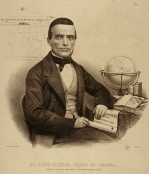 Miguel Lerdo de Tejada - Miguel Lerdo de Tejada drafted the law to disentail the lands of the Catholic Church and those of indigenous communities. The Lerdo was codified in the Liberal Constitution of 1857.