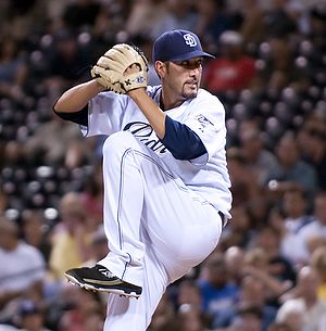 Mike Adams (pitcher) - Adams with the San Diego Padres