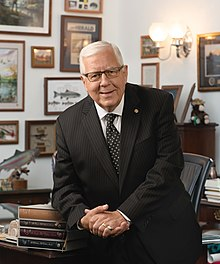Mike Enzi, official portrait, 115th Congress.jpg