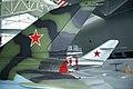 Mikoyan-Gurevich MiG-21MF MiG-17A Tails EASM 4Feb2010 (14404501518).jpg