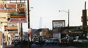Milwaukee Avenue (Chicago) - Image: Milwaukee Avenue near Logan Square, Chicago 1993 (6505088)