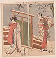 Minamoto no Yoritomo en Yuki Onna in de sneeuw.-Rijksmuseum RP-P-2007-144.jpeg
