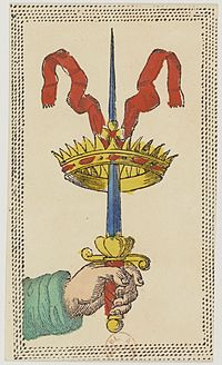 Minchiate card deck - Florence - 1860-1890 - Swords - 01.jpg