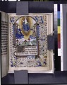 Miniature of Resurrection, initial, French text (NYPL b12455533-425930).tif