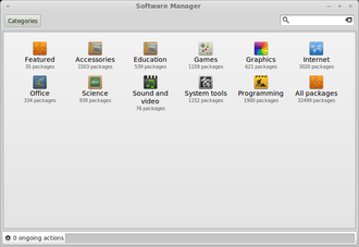 Linux Mint - The Linux Mint Software Manager allows users to view and install programs from the Software Portal directly from their desktop.
