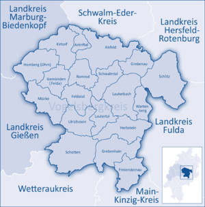 Vogelsbergkreis - Image: Mittelhessen Vogelsberg