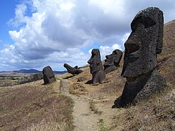 Skyline of Easter Island