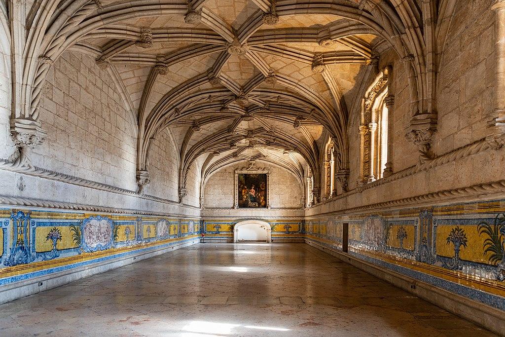 Style gothique tardif de style manuélin au Monastère des Hiéronymites à Lisbonne - Photo de Gilles Messian