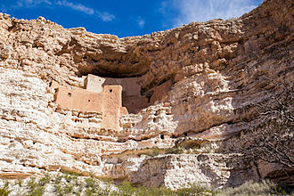 Montezuma Castle National Monument - Montezuma Castle sits on the cliff face like an aerie.