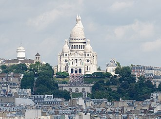 Montmartre - Montmartre, including the Basilica of the Sacré Cœur